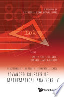 Advanced Courses of Mathematical Analysis IV