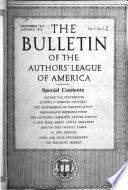 The Authors' League Bulletin