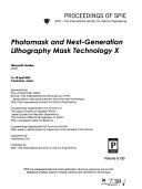 Photomask and Next generation Lithography Mask Technology Book