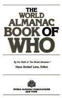 The World Almanac Book Of Who