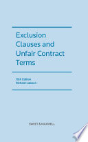 Exclusion Clauses and Unfair Contract Terms