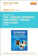 Language Disorders from Infancy Through Adolescence Pageburst E book on Kno Retail Access Card
