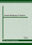Powder Metallurgy of Titanium Pdf/ePub eBook