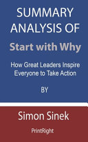 Summary Analysis Of Start with Why