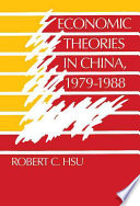 Economic Theories in China  1979 1988 Book