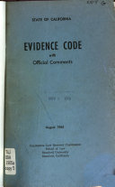 Evidence Code with Official Comments