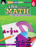 180 Days Of Math For Sixth Grade Practice Assess Diagnose