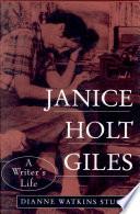 Janice Holt Giles  A Writer s Life