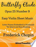 Butterfly Etude Opus 25 Number 9 Easy Violin Sheet Music Book PDF