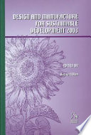 Design And Manufacture For Sustainable Development 2003  Book PDF