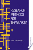 Research Methods For Therapists