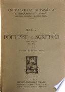 Poetesse e scrittrici  , Volumes 1-2