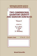 Two Dimensional Quantum Gravity And Random Surfaces