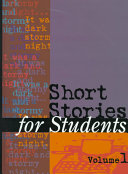 Short Stories for Students Cover