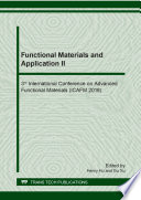 Functional Materials and Application II