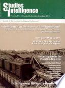 Studies In Intelligence  1 2004 Book