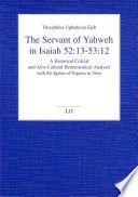 The Servant Of Yahweh In Isaiah 52 13 53 12 Book PDF