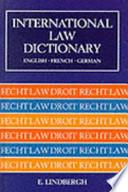 International Law Dictionary