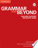 Grammar and Beyond Level 1 Teacher Support Resource Book with CD-ROM  , Band 1