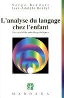 L'analyse du langage chez l'enfant