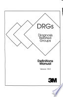 DRGs, Diagnosis Related Groups