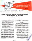U S  Forest Service Research Note SO  Book