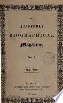 The Quarterly Biographical Magazine