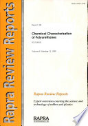 Chemical Characterisation of Polyurethanes