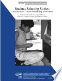 Students Selecting Stories The Effects Of Choice In Reading Assessment Results From The Naep Reader Special Study Of The 1994 National Assessment Of Educational Progress Book PDF
