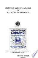Selected ASTM Standards for Metallurgy Students