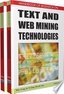 Handbook of Research on Text and Web Mining Technologies Book