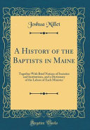 A History Of The Baptists In Maine