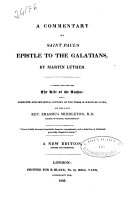 A Commentary on Saint Paul's Epistle to the Galatians ebook