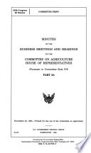 103-2 Committee Print: Minutes of the Business Meetings and Hearings, Part 2A.