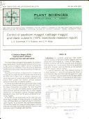 Control of Seedcorn Maggot, Cabbage Maggot, and Black Cutworm