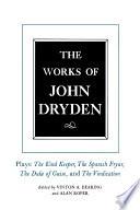 The Works of John Dryden, Volume XIV