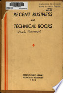 Recent Business and Technical Books