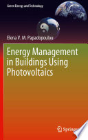 Energy Management In Buildings Using Photovoltaics Book PDF