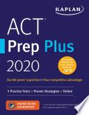 ACT Prep Plus 2020 Book