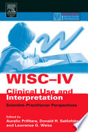 Wisc Iv Clinical Use And Interpretation Book PDF
