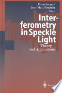 Interferometry In Speckle Light Book PDF