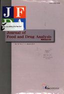 Journal of food and drug analysis Book