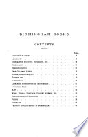 Catalogue Of Birmingham Books In The Reference Department Of The Free Library