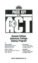 Barron s Pass Key to the ACT   American College Testing Program