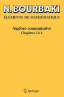 Algèbre commutative [Pdf/ePub] eBook