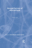 Annual Survey of African Law Cb