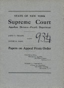 Papers on Appeal from Order Book