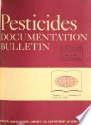 Pesticides Documentation Bulletin Book PDF