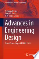 Advances in Engineering Design Book
