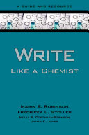 Write Like a Chemist